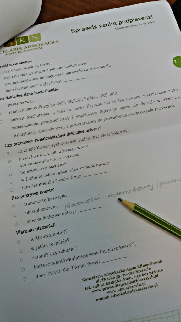 postanowienia wzorca umownego - co zawrzeć we wzorcu umowy?