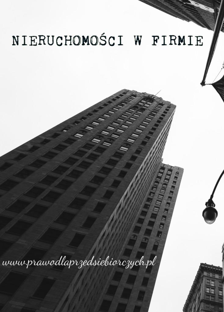 nieruchomości w firmie prawo dla przedsiębiorczych
